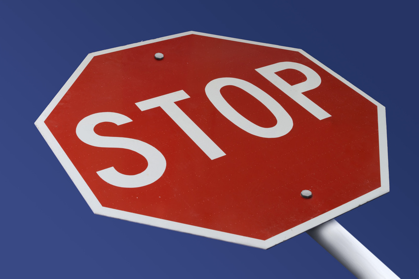 overcoming objections stop sign
