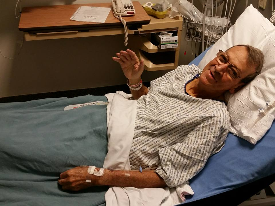 My Dad in the hospital