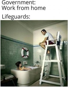 lifeguard working from home