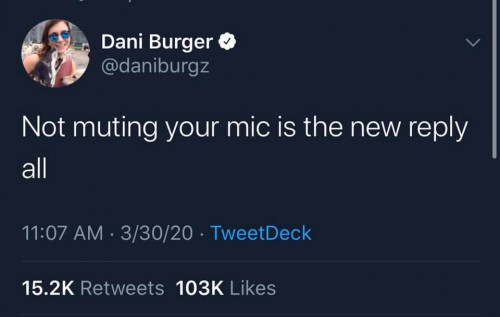 """Not muting your mic is the new """"reply all"""""""